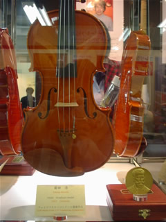 菊田浩さんのヴァイオリン